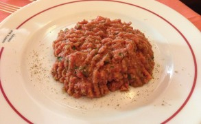 La tartare dell'Harry's Bar di Firenze