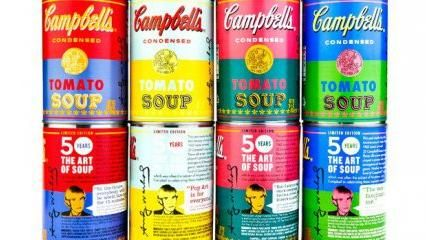Campbell's soup Any Warhol